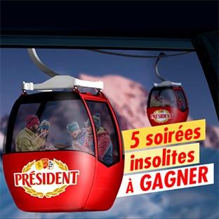 Jeu soirees-insolites.fr Président : séjour, raclette et fondue à gagner