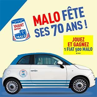 Jeu 70 ans Malo : Voiture Fiat 500, voyage de rêve… à gagner