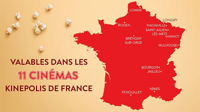 Liste des cinémas Kinepolis