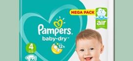 Promo Couches Pampers : -70% Auchan / réduction de 2,50€