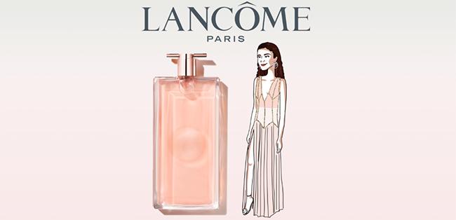 Tentez de tester gratuitement le parfum Idôle de Lancôme avec lucette.com