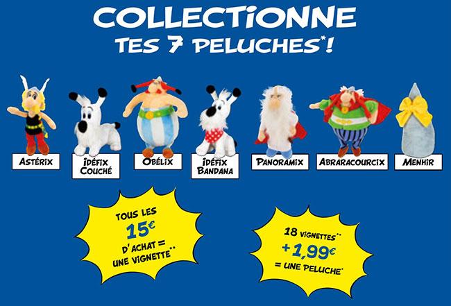 Collectionnez les 7 peluches Astérix à petit prix chez Lidl