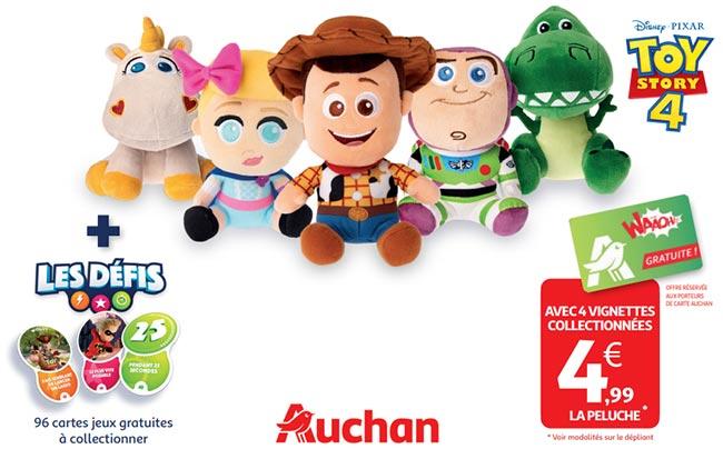Collectionnez les 5 peluches Toy Story à moindres frais d'Auchan