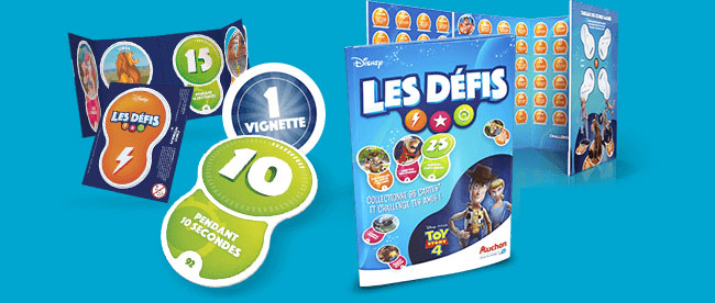 Pochettes Toy Story 4 en magasin Auchan