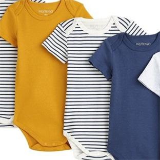 Promo Auchan : Lot de 5 bodies bébé pas chers