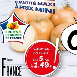 Bon plan Lidl : filet oignons jaunes pas cher