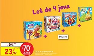 Promo Intermarché : 4 jeux de société à 23,97€ au lieu de 79,90€
