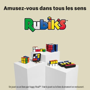 Jouet Happy Meal McDo : 6 Rubik's Cube à collectionner