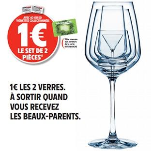 Vignette Intermarché : verre Cristal d'Arques à 1€