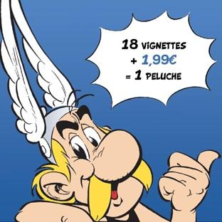 Vignettes Lidl : Peluches Astérix collector