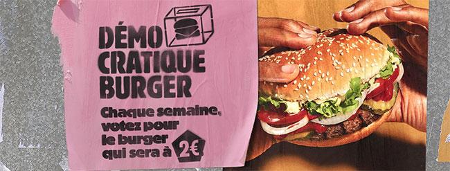 Promo Démocratique Burger King