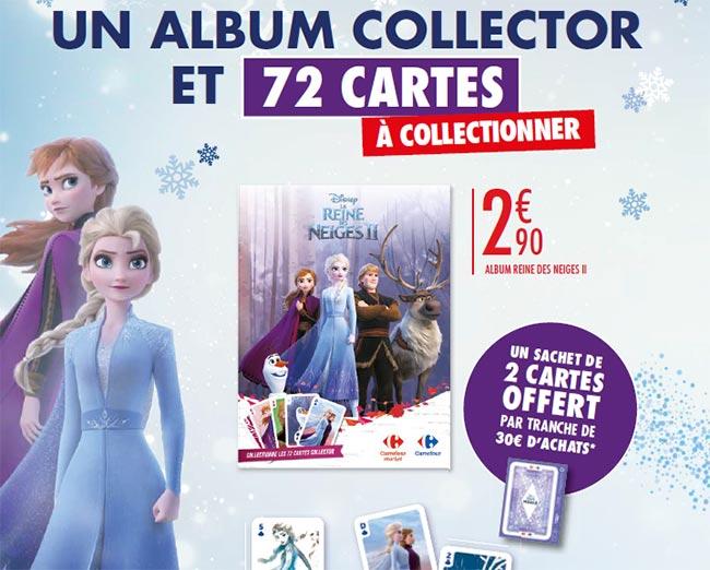 Cartes offertes et albums La Reine des Neiges