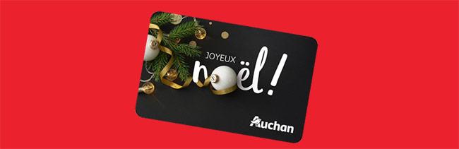 cartes cadeaux à remporter avec vos courses Auchan