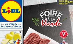Catalogue Lidl Foire à la viande du 23 au 29 octobre 2019