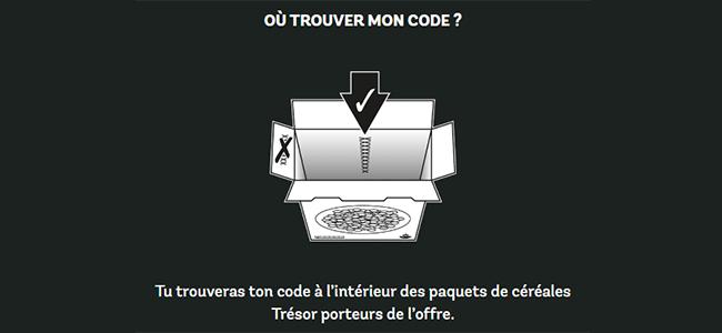 ou trouver le code à utiliser sur www.chocovore.com
