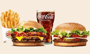 Code Promo Burger King : 1 menu acheté = 1€ le burger en +