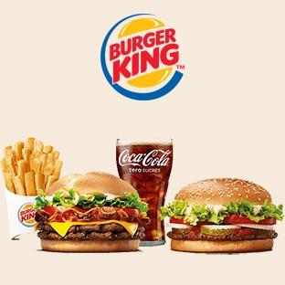 Code Promo Burger King : 1 menu acheté = 1€ le burger en +