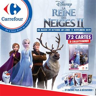 Carrefour : Cartes Reine des Neiges offertes et peluches à collectionner