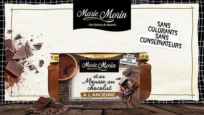 Marie Morin et sa mousse au chocolat à l'ancienne