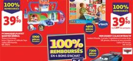 Bon plan Auchan 100% remboursé = 5 jouets offerts