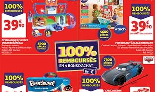 Bon plan Auchan 100% remboursé = 4 jouets offerts