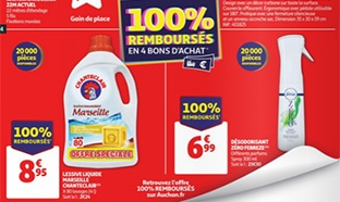 Bon plan Auchan 100% remboursé = 8 produits offerts