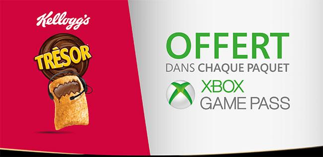 Xbox Game Pass offert dans les paquets de Trésor Kellogg's