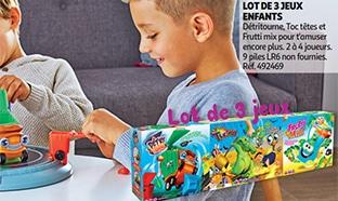 Promo de Noël Auchan : 3 jeux de société enfants à 19,90€