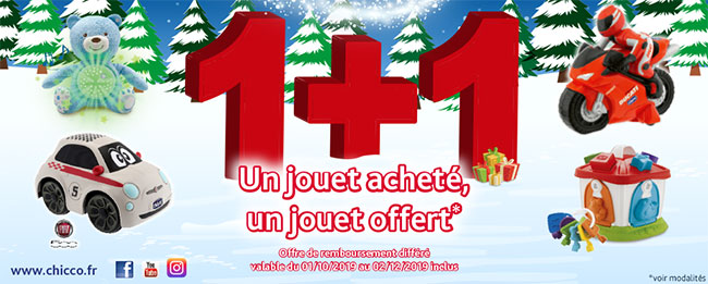 Remboursement Chicco : Jouets offerts
