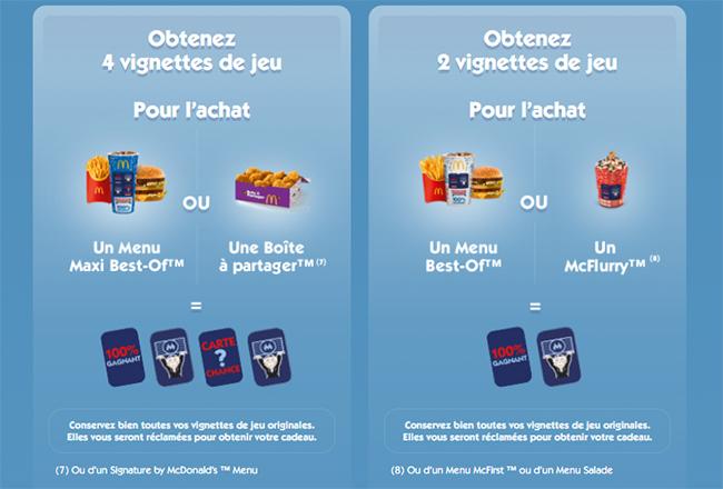 Les vignettes offertes du jeu Monopoly 2020 by McDonald's