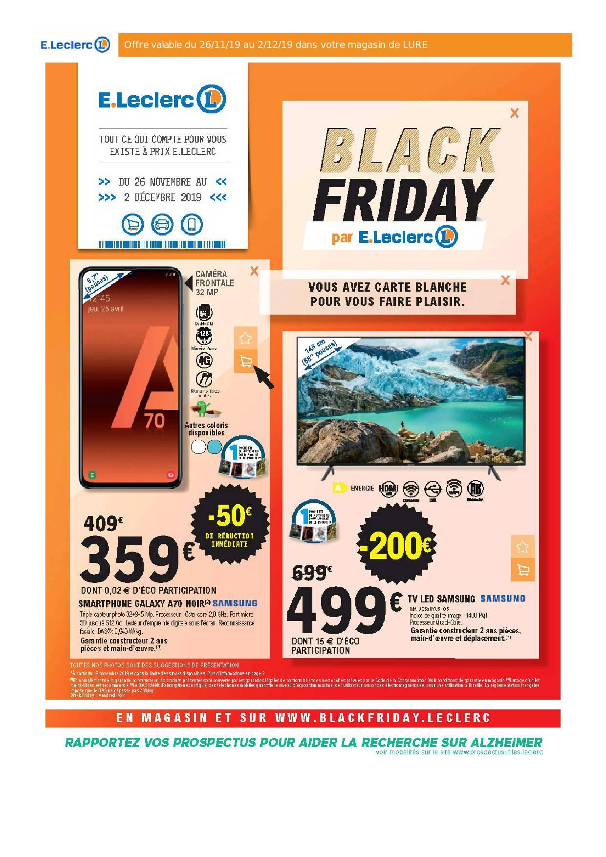 Catalogue Leclerc Black Friday 2020 7 Jours De Remises