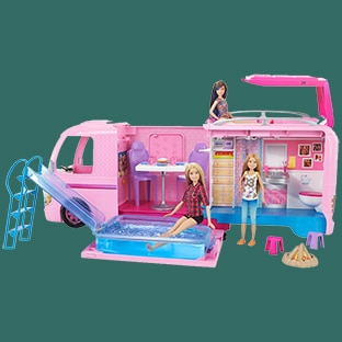 Camping-car Barbie à 29,95€ (-50% remise fidélité – 10€ bon)