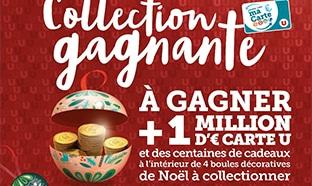www.Magasins-U.com Collection gagnante Boule Noël : Jeu à code