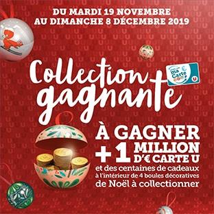 .Magasins U.Collection gagnante Boule Noël : Jeu à code