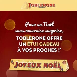 Étui cadeau Toblerone gratuit à recevoir à domicile