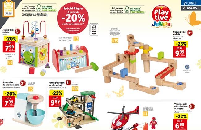 jouets en bois à petit prix dans les magasins Lidl