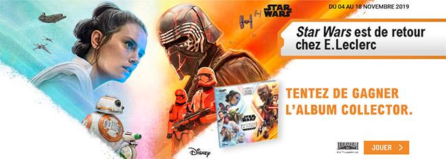 Tentez de gagner un album Star Wars collector avec vos achats Leclerc