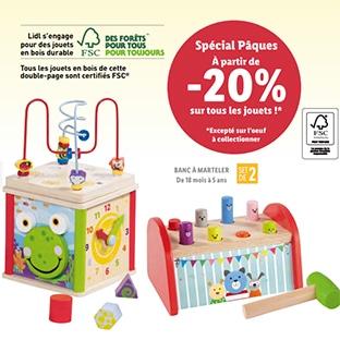 Les jouets en bois Lidl pas chers sont de retour pour Pâques 2020