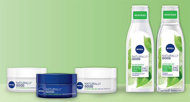 testez gratuitement un ou deux produits Naturally Good Nivea