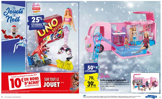 Promo Camping-car Barbie chez Carrefour