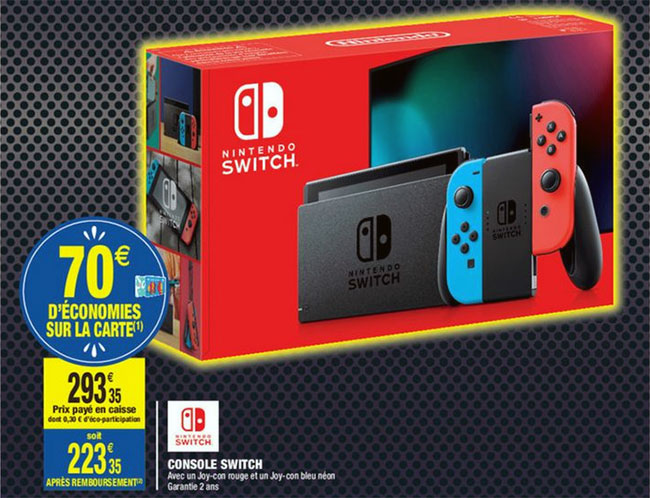 Promo Black Friday Carrefour Market Console Nintendo Switch