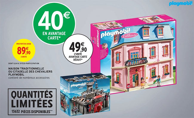 Maison traditionnelle Dollhouse Playmobil à petit prix chez Intermarché