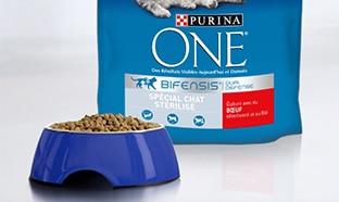Test Purina One : croquettes Bifensis chat stérilisé gratuits