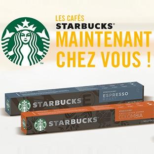 Test Starbucks Nespresso : Barrettes de capsules gratuites