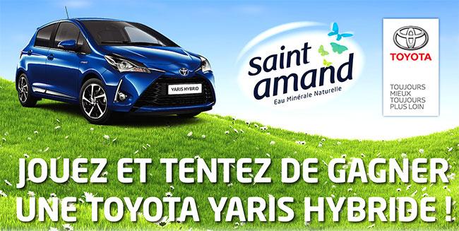 Tentez de remporter une voiture Toyota Yaris Hybride