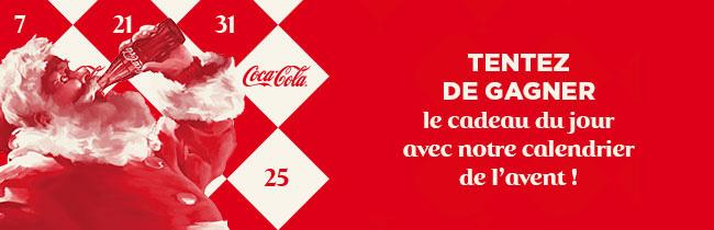les cadeaux à gagner au calendrier de Coca Cola