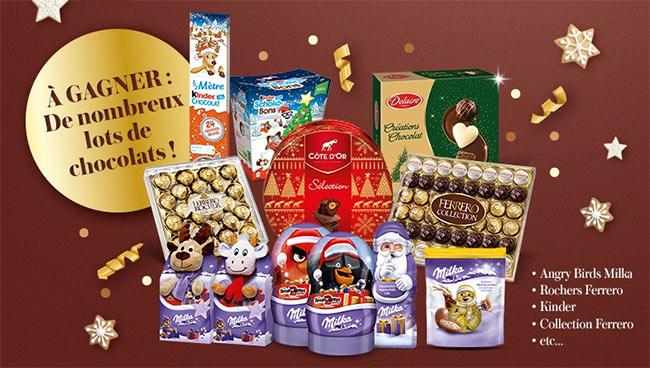 les chocolats à gagner sur le site Cora.fr