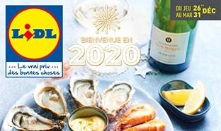 Catalogue Lidl «jour de l'an 2019» (du 26 au 31 décembre)