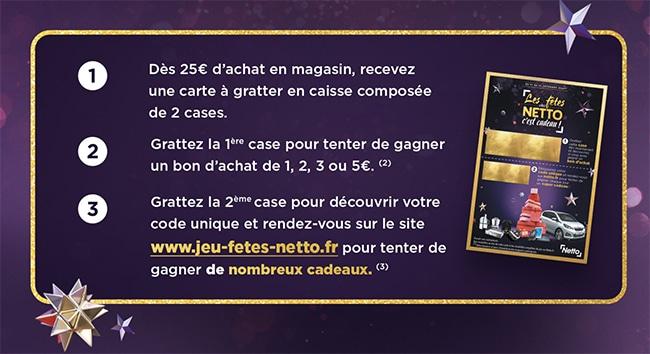 Comment jouer au jeu Les fêtes chez Netto sur Netto.fr
