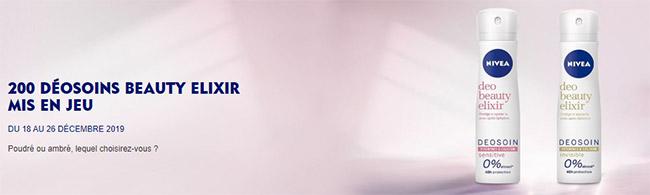Testez un déodorant déosoin Beauty Elixir de Nivea